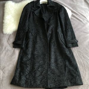 Jackets & Blazers - Lace silk trench coat